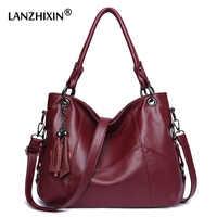 Lanzhixin Umhängetaschen Für Frauen Leder Handtaschen Frauen Messenger Taschen Damen Designer Schulter Taschen Tote Top-griff Taschen 819S