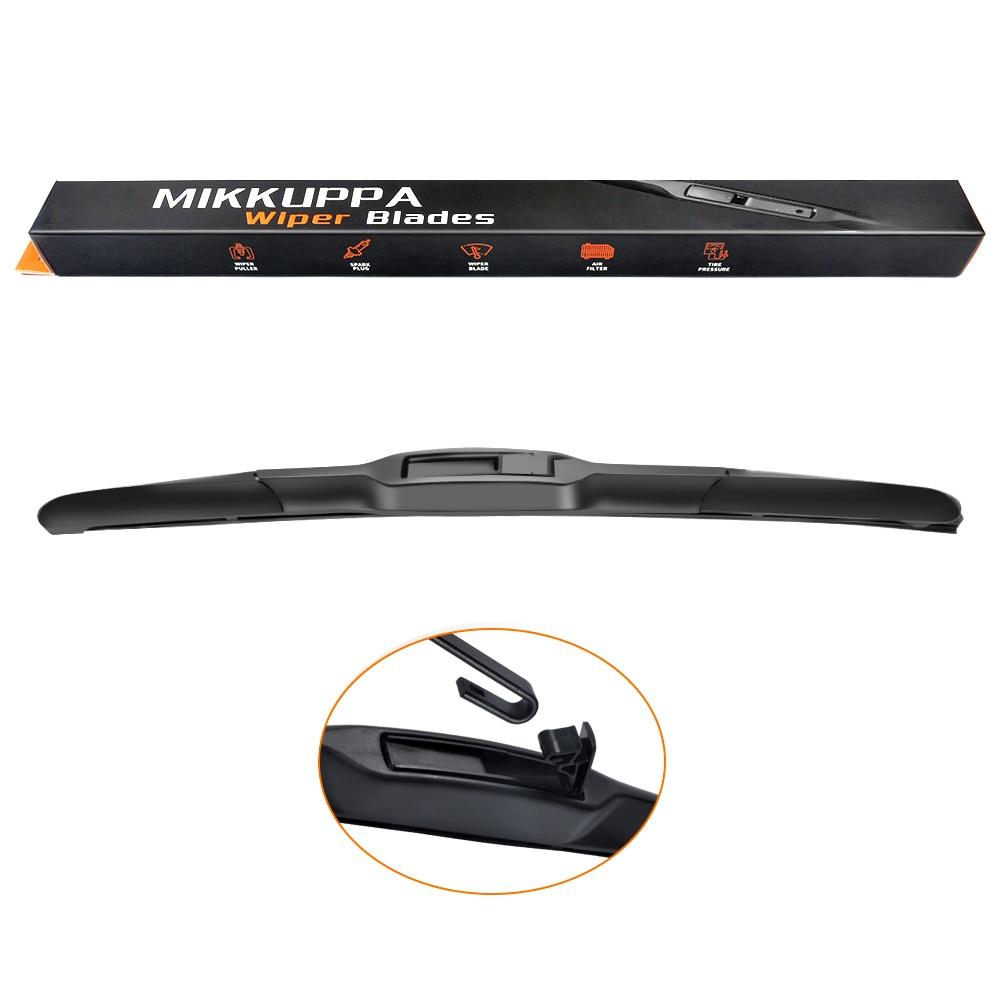 MIKKUPPA hibrid silecek bıçak KIA Sportage Sorento Toyota Camry Corolla Mitsubishi Outlander Fit kanca kolları sadece dayanıklı kauçuk
