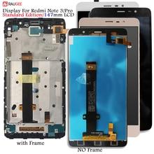 ЖК экран + сенсорный дисплей с рамкой для Xiaomi Redmi Note 3 Pro Soft key backlight для Xiaomi Redmi Note 3/Prime 5,5 (150 мм)
