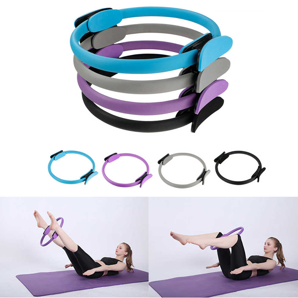 Pilates Ring Magic Circle Body Sport Exercise Fitness Strength Tool BOOSO Pilates Circle Fitness Circle Yoga Circle Resistance Circle with Anti Slip Handle
