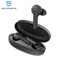 Soundpeats verdadeiro bluetooh 5.0 in-ear tws fones de ouvido sem fio fones de ouvido com microfone de alta definição