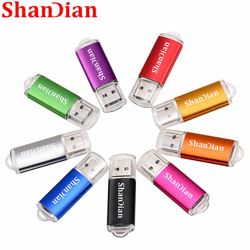 Shandian Mini Pen Drive USB Flash Drive 4 GB 8 Gb 16 GB 32 GB 64 GB 128 GB Flashdisk logam USB 2.0 Flash Drive Memori Kartu USB STICK