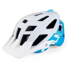 BATFOX Bicycle Helmet White Blue In-Mold Cycling Helmets MTB