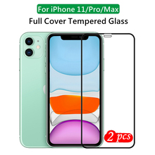 High aluminum Full Gule Tempered Glass Film for iPhone 11 Pro Max Explosion proof Glass Screen Protector for iPhone 11