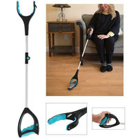 Newest Useful Helpful Grab Tool Grab Cant Reach Grip Trash Pick Up Disabled Arm Extension Grabber Tool|Hand Push Sweepers| |  -