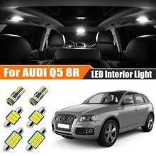 Kammuri 14x nenhum erro branco led interior do carro luzes pacote kit para audi q5 8r 2008 - 2015 2016 2017 2018 2019 led interior luz