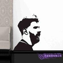 Messi Football Player Wall Sticker Sports Decal Kids Room Decoration Posters Vinyl Messi Car Soccer Player Decal messi football player wall sticker fc football club player home decoration vinyl art design decor sports decals ornament w177