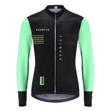 Rsantce 2020 nova camisa de outono roupas masculinas manga longa camisa ciclismo camisas maillots ciclismo mtb mountain bike topos