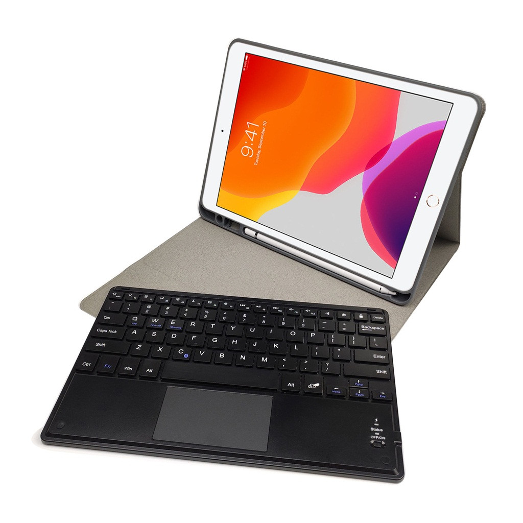 Generation Keyboard-Stand Pen-Slot Cover with Detachable For Bluetooth iPad Funda-Case