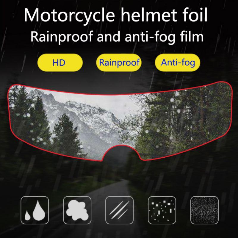 Helmet Clear Pinlock Anti-Fog Patch Film Universal Motorcycle Helmet Lens Fog Resistant Films For K3 K4 AX8 LS2 HJC MT Helmets
