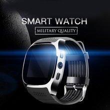 купить New Smartwatch Intelligent Bluetooth Sport Smart Watch T8 Pedometer Wrist Watch Support SIM TF Card Call For Phone Android по цене 573.52 рублей