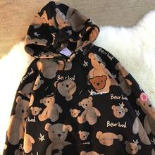 Dos desenhos animados bonito hoodies moletom feminino panda impressão topos gótico com capuz de manga longa harajuku solto casual 2020 roupas femininas