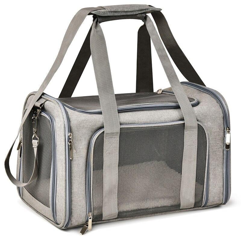 Gato à prova dwaterproof água mochila saco de transporte do gato do cão oxford tecido respirável malha fácil limpeza gaiola do gato de saída pet carrier mochila