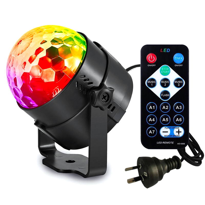 LED Stage Light Remote Sound Control Rotating DJ Disco Ball Strobe Lights 3W RGB LED Laser Projector Effect Lamp For Christmas
