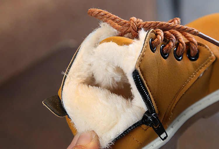 Kids Schoenen Warm Jongens Meisjes Sneaker Laarzen Kids Baby Casual Schoenen Sport Kinderen Gewatteerde Plus Katoen Snowboots Jongens meisjes