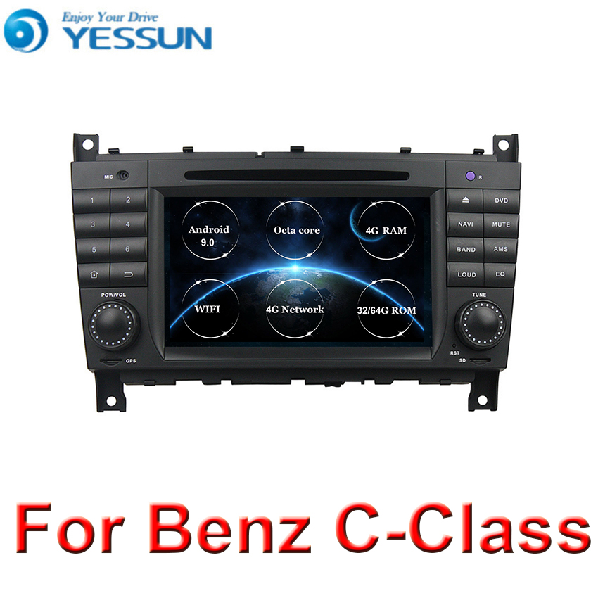 For Benz C-Class W203 / <font><b>CLK</b></font> <font><b>W209</b></font> Android 9.0 4G RAM DSP Multimedia Player System Car <font><b>Radio</b></font> Stereo GPS Navigation Audio Video image