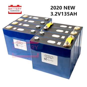 8PCS 3.2v 135AH GRADE A Lifepo4 battery Lithium phosphate cell NOT 100ah 120ah 150ah 48V300AH for solar RV pack EU US TAX FREE