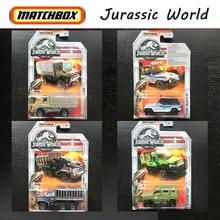 Original Matchbox Car 2018 Jurassic World Toy Car Jurassic Park Series Model Car Collection Hot Toys for Boys Kids Gift