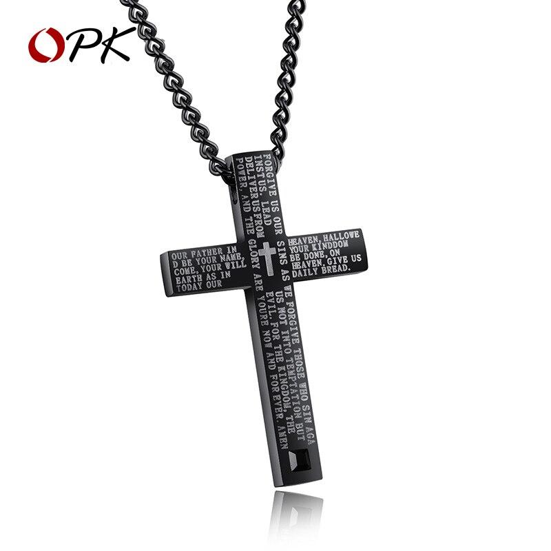 Hommes bijoux jésus Christ croix hommes collier marque de mode ins polyvalent hip hop Bible titane acier pendentif pendentif ornement