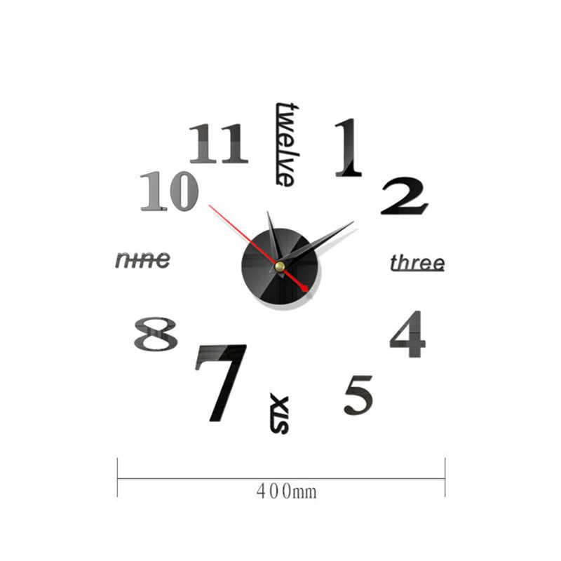 Nowoczesny zegar ścienny zegarek zegary 3D DIY lustro akrylowe naklejki salon igła kwarcowa europa horloge darmowa wysyłka