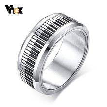 Vnox вращающееся кольцо для ключей фортепиано мужчин браслет