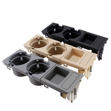 SKTOO Double Hole Car Vehicle Front Center Console Storage Box Coin + Cup Holder for BMW E46 3SERIES 1999-2006 51168217957