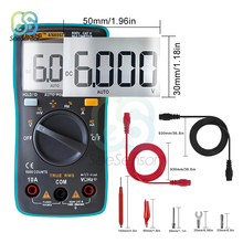 AN8002 Portable LCD Digital Multimeter 6000 Counts Backlight Profesional Transistor Capacitor Tester AC/DC Ammeter Voltmeter large lcd trms clamp multimeter 6000 counts temperature auto range ac dc ammeter with backlight free shipping ng4s