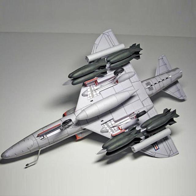 American A-4 Skyhawk Attack Aircraft Paper Model DIY Plane Paper Aircraft Model Attack R9P8 4