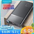 KUULAA Power Bank 10000 mAh QC PD 3,0 PoverBank Schnelle Aufladen Power 10000 mAh USB Externe Batterie Ladegerät Für Xiaomi mi 10