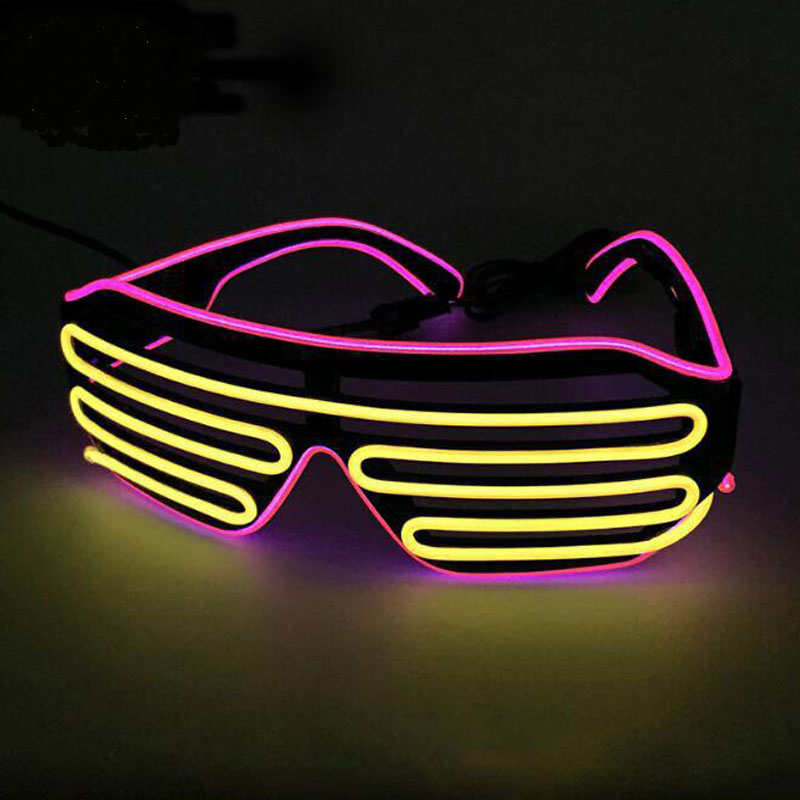 LED Neon Party Glasses Halloween Glowing Glasses Christmas Luminous Bril Flashing Light Glow Sunglasses Bril Glow Costume