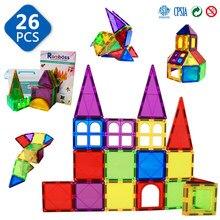 Romboss-bloques de construcción magnéticos para niños, juegos de construcción, diseñador de imanes, juguetes educativos, azulejos magnéticos
