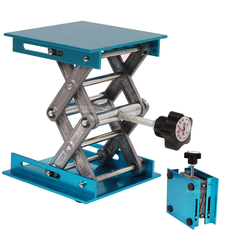 Aluminum <font><b>Router</b></font> Lift Table Woodworking Engraving Adjustable Lab Stand Table Lifting Stand Rack lift <font><b>Lifter</b></font> Woodworking Benches image