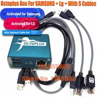 100% Original 2020 new octopus box / Octoplus Box For SAMSUNG For Lg + 5 Cables for SAM Unlock Flash Repair Mobile Phone