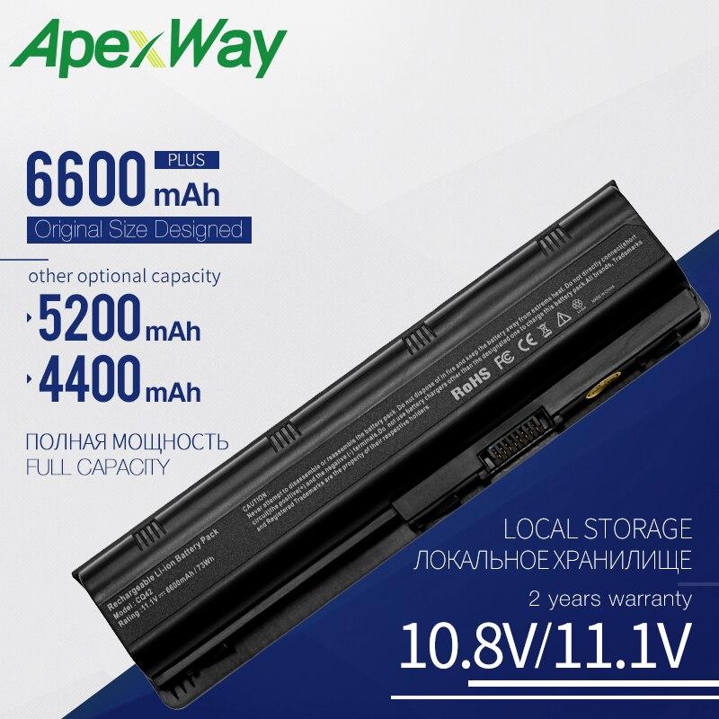 Apexway 593553-001 MU06 para a Bateria Do Laptop HP CQ42 CQ43 CQ56 para HP Pavilion G4 G6 G7 DV6 DV7 DM4 MU09 MU06 Bateria do Notebook