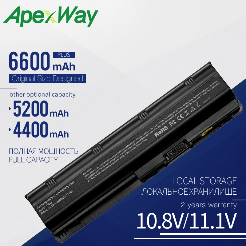 €12.47 17% СКИДКА|Apexway 593553 001 аккумулятор большой емкости MU06 аккумулятор для ноутбука hp CQ42 CQ43 CQ56 для hp павильон G4 G6 G7 DV6 DV7 DM4 MU09 MU06 Аккумулятор для ноутбука|Аккумуляторы для ноутбука| |  - AliExpress