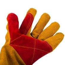 Сварочные перчатки с длинными рукавами износостойкие термостойкие