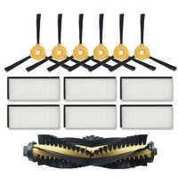 Vendita Calda di Ricambio Kit di Accessori Filtro Principale Pennello Spazzola Laterale per Ecovacs Deebot N79S N79 Robotic Vacuum Cleaner Filtro + pennello