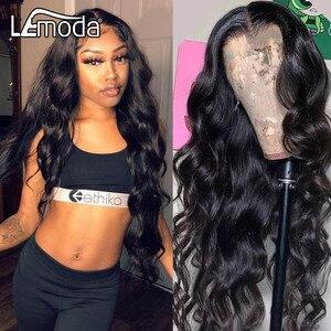 Синтетические волосы на кружеве человеческих волос парики объемная волна парик HD прозрачный кружевной парик 30 дюймов, Remy (Реми бразильские ...