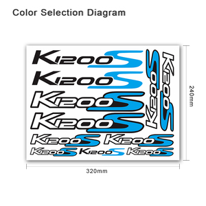 Image 2 - For BMW K1200S k1200 s k 1200s k 1200 s k1200s   Motorcycle body Decoration Stickers Front Rear Fairing Decal Reflective Sticker