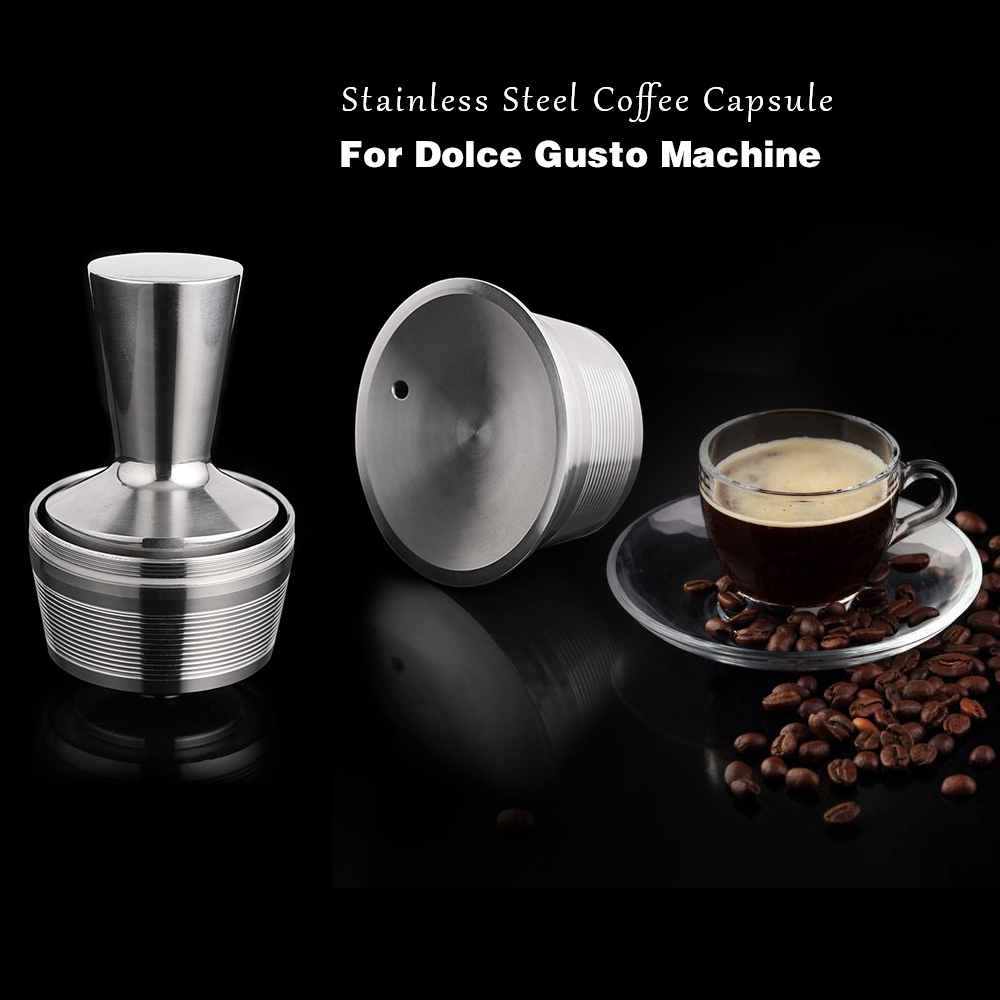 Stainless Steel Refillable Nescafe Dolce Gusto Capsules Reusable Dolce Gusto Metal Capsula Use 500times Capsulas Reutilizables