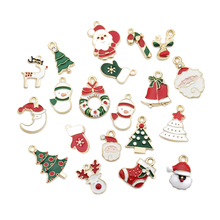DIY Handmade 20Pcs/Set Christmas Tree Hanging Decor Pendant Drip Alloy Small Pendant Xmas New Year