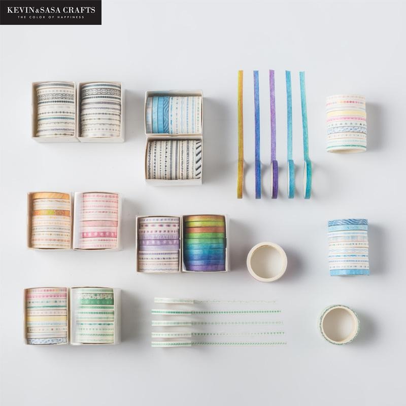 10pcs/set Printing Washi Tape Set Diy Masking Tape Cute Stickers School Suppliers Stationery Gift Presented By Kevin&Sasa Crafts