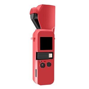 Image 4 - Osmo Pocket camera siliconen case bescherming cover met lens cap + strap lanyard voor DJI osmo Pocket camera gimbal Accessoires