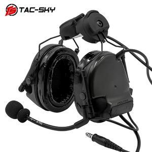 Image 3 - TAC SKY COMTAC III Helmet fast rail bracket version Silicone earmuff version Noise reduction pickup headset  BK