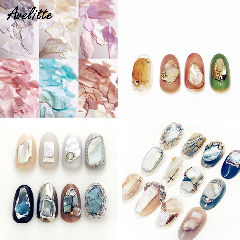 Avelitte Style Nail Accessories Ins Net Red Same High Quality Shell Exhibition Synchronization Nail Accessories