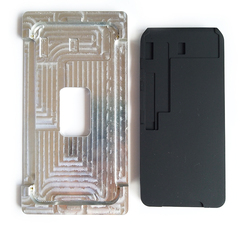 Molde de metal para iphone xs max xr alinhamento da tela lcd nenhuma dobra flex oca estratificação almofada de borracha silicone ferramentas de reparo do telefone móvel