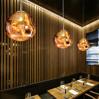 Nordic Lava Pendant Lights Lighting Modern Restaurant Decor Pendant Lamp Creative Glass Bedroom Bar Cafe Loft Kitchen Fixtures nordic gold silver glass ball loft led pendant lights restaurant bar industrial lighting pendant lamp kitchen fixtures luminaria