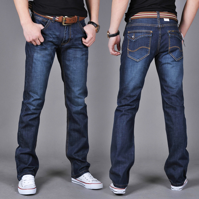 2019 New Style Spring And Autumn Summer Jeans Men's Straight Slim Teenager Casual Cowboy Trousers Men's Trousers