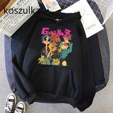 Gorillaz Hoodies Unisex women Simple All-match Leisure Oversize Pullovers Korean Style Warm Hip Hop Loose Streetwear Sweatshirts