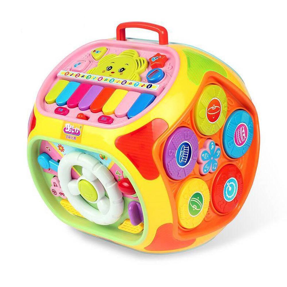 Enfants jouet à sept facettes multi-fonction jeu Table bébé sagesse maison Puzzle musique étude maison illumination cognitif jouet